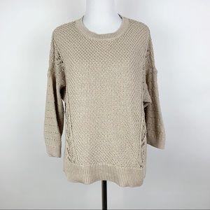 LOFT Chunky Knit Crew Neck Sweater